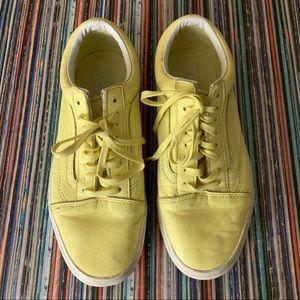 Unisex Vans Yellow Leather Low Tops Men's Sz 7